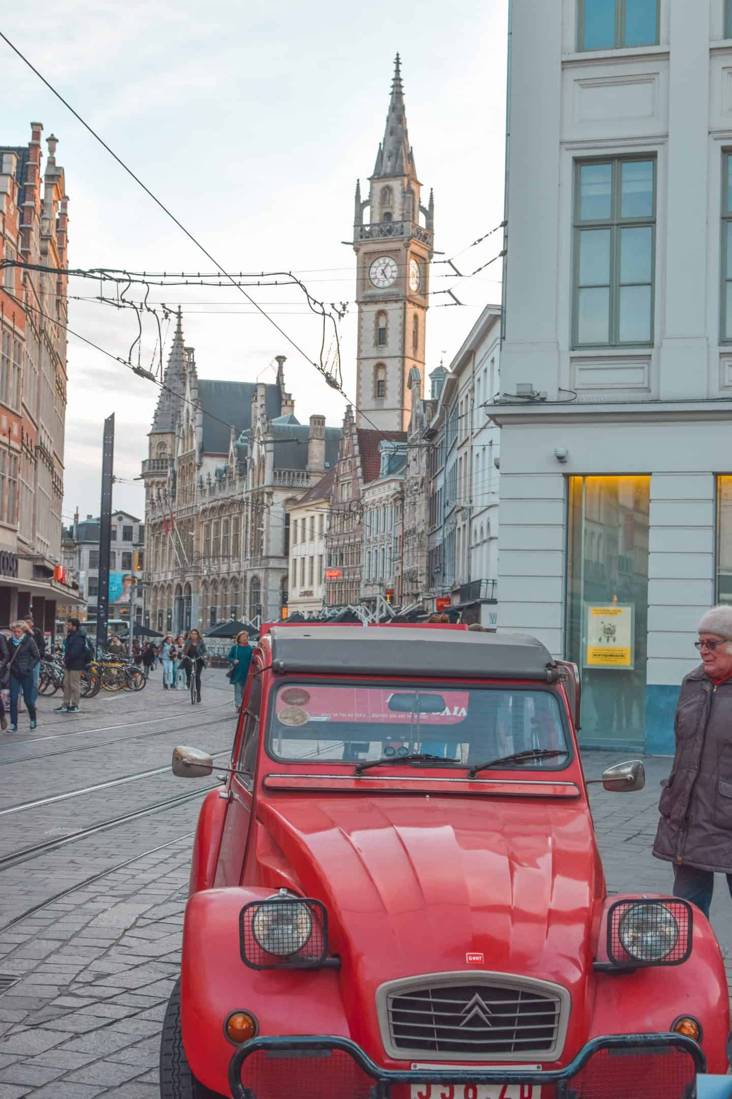 Car in central Ghent