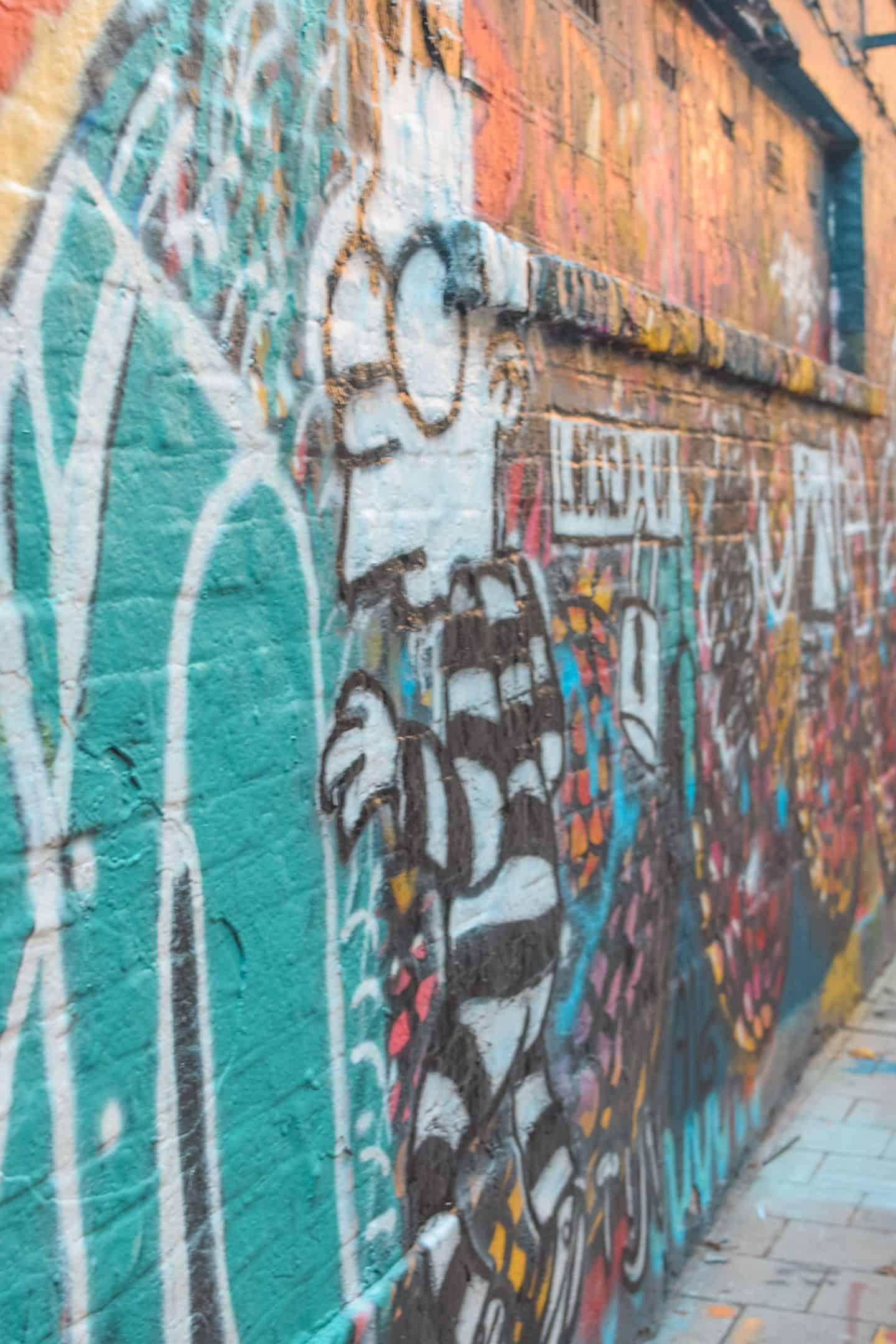 Graffiti street in Ghent