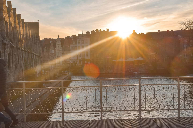 Sunrise in Ghent