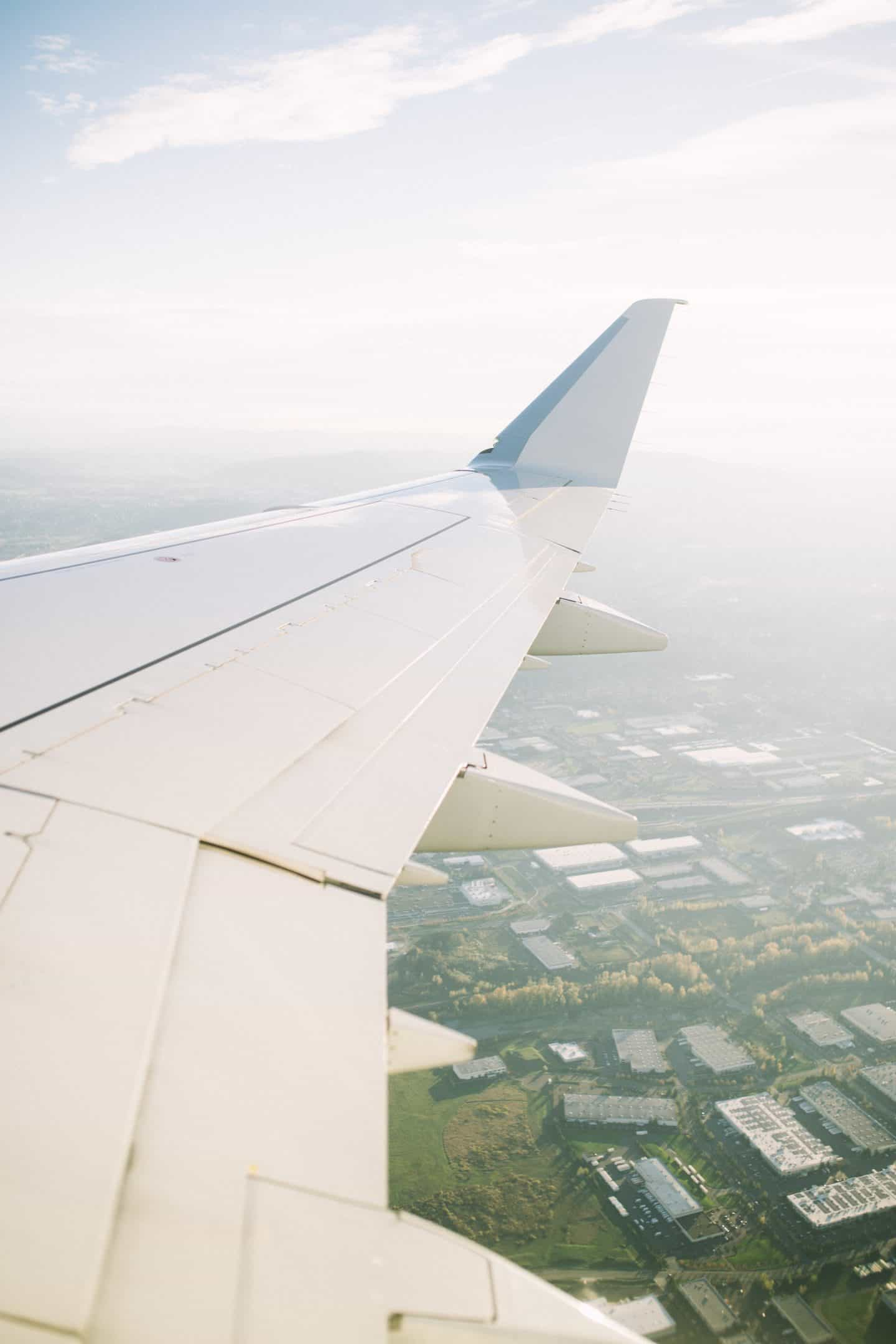 Airplane traveling abroad, traveling abroad the first time