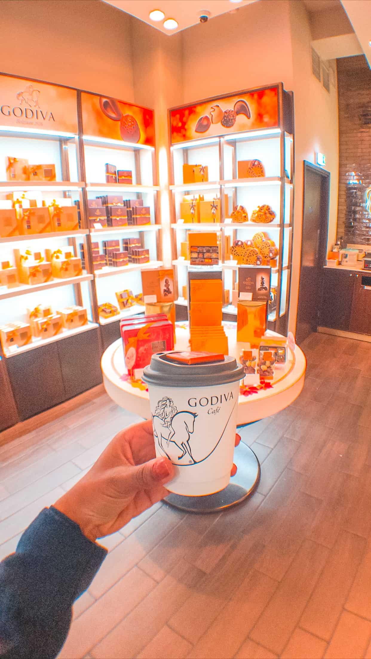 Godiva Hot Chocolate Canary Wharf