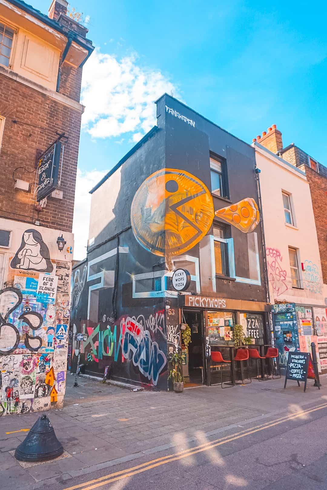 Pac Man-on-Brick Lane