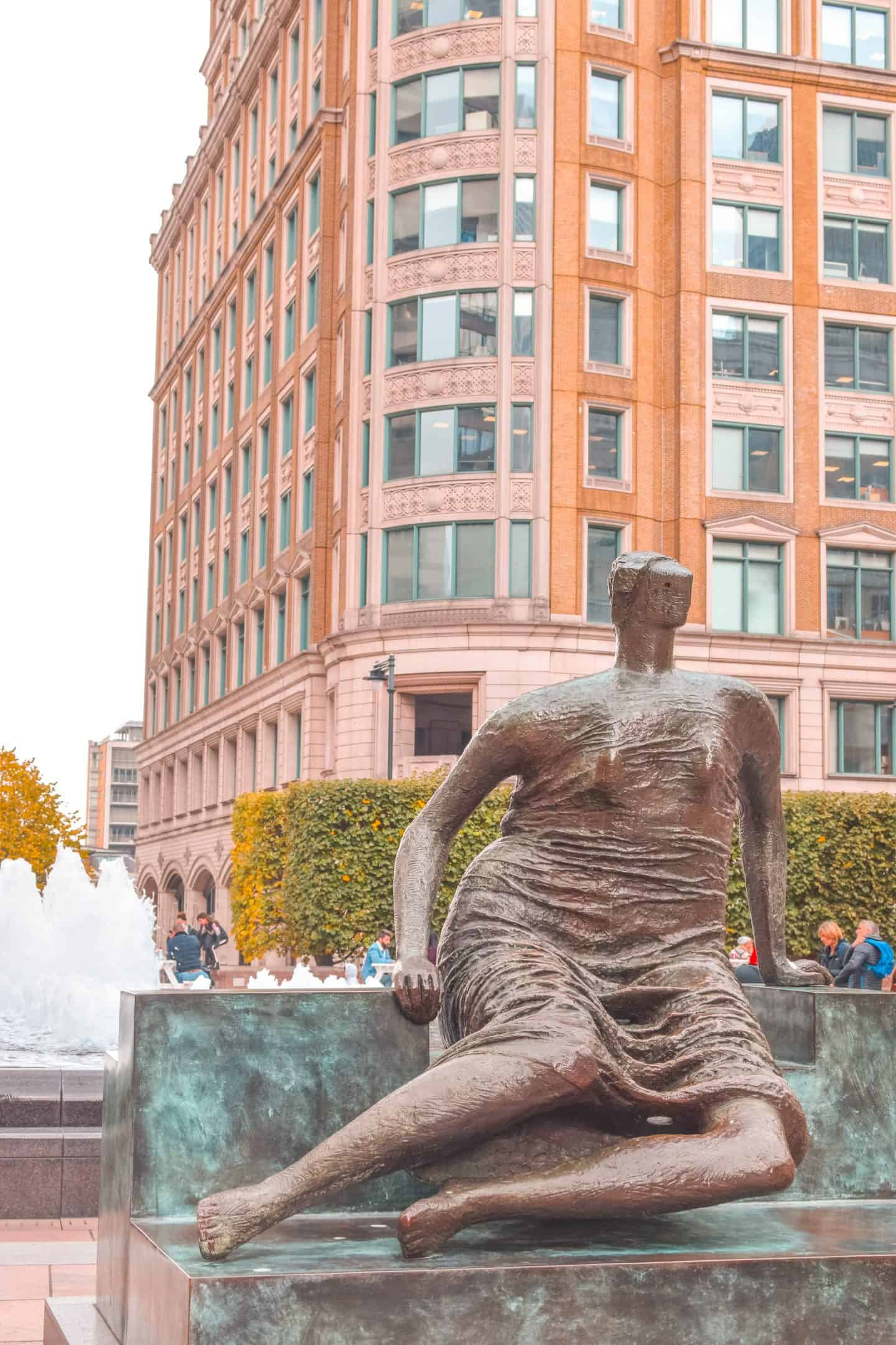 Sculpture Art in Canary Wharf: Places to go