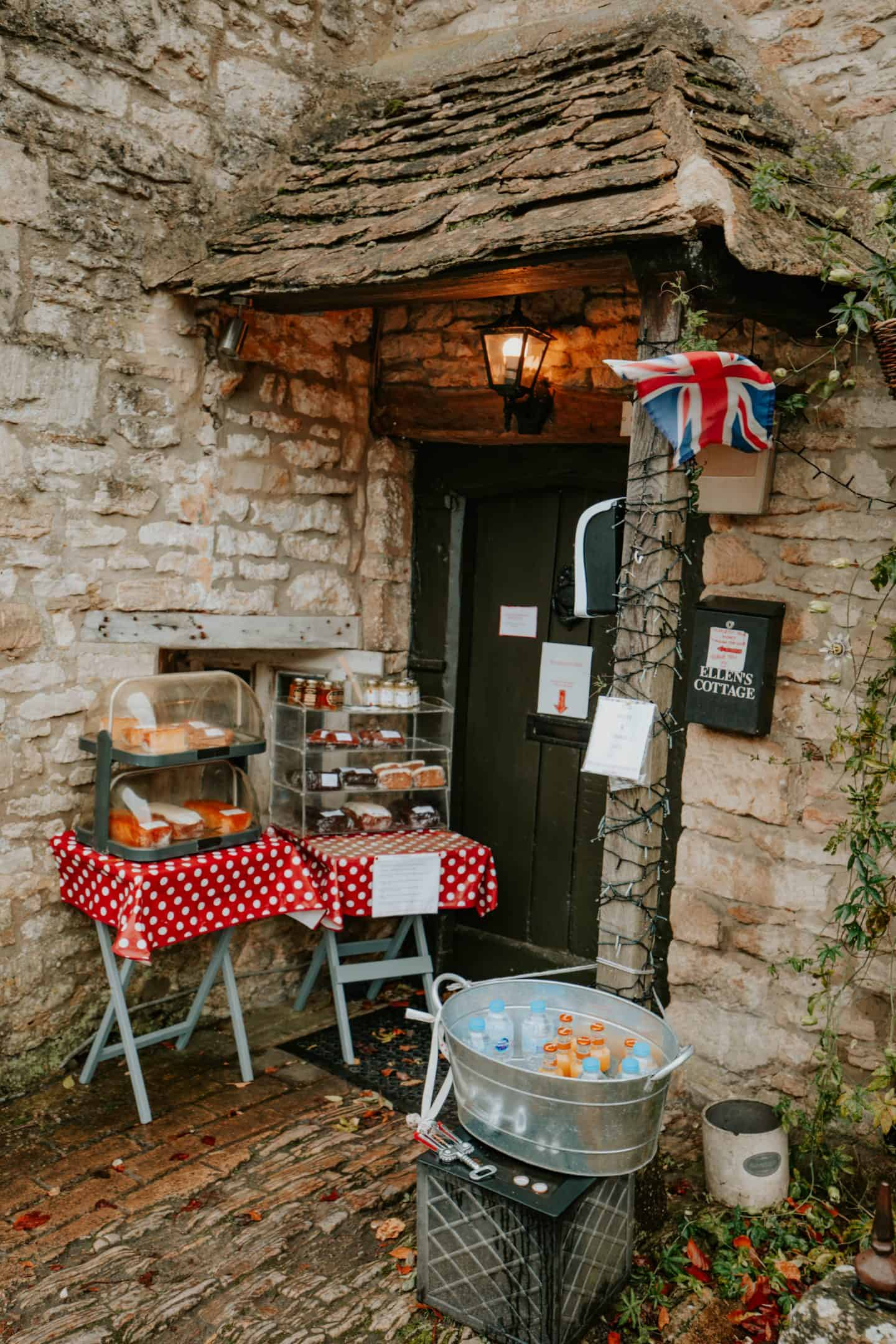 Honesty Boxes at Castle Combe, Cotswolds