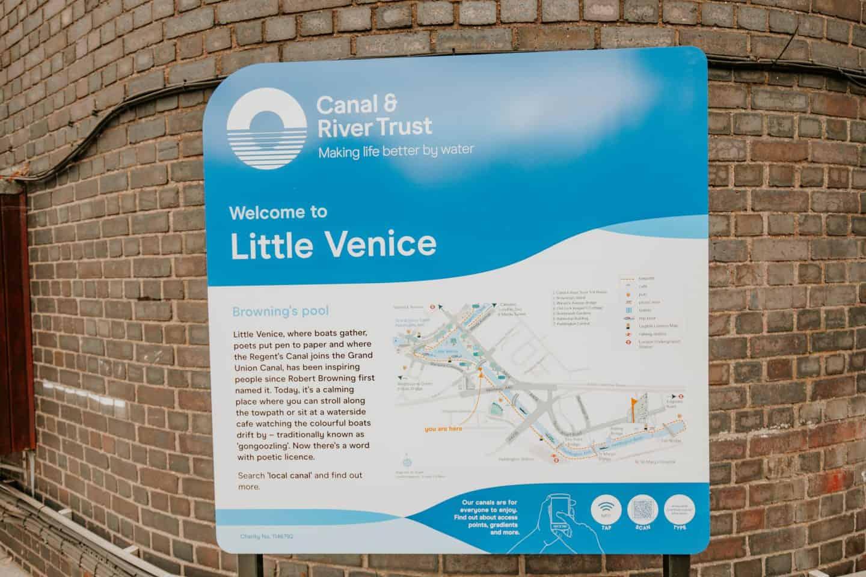 A plaque of Little Venice, London History