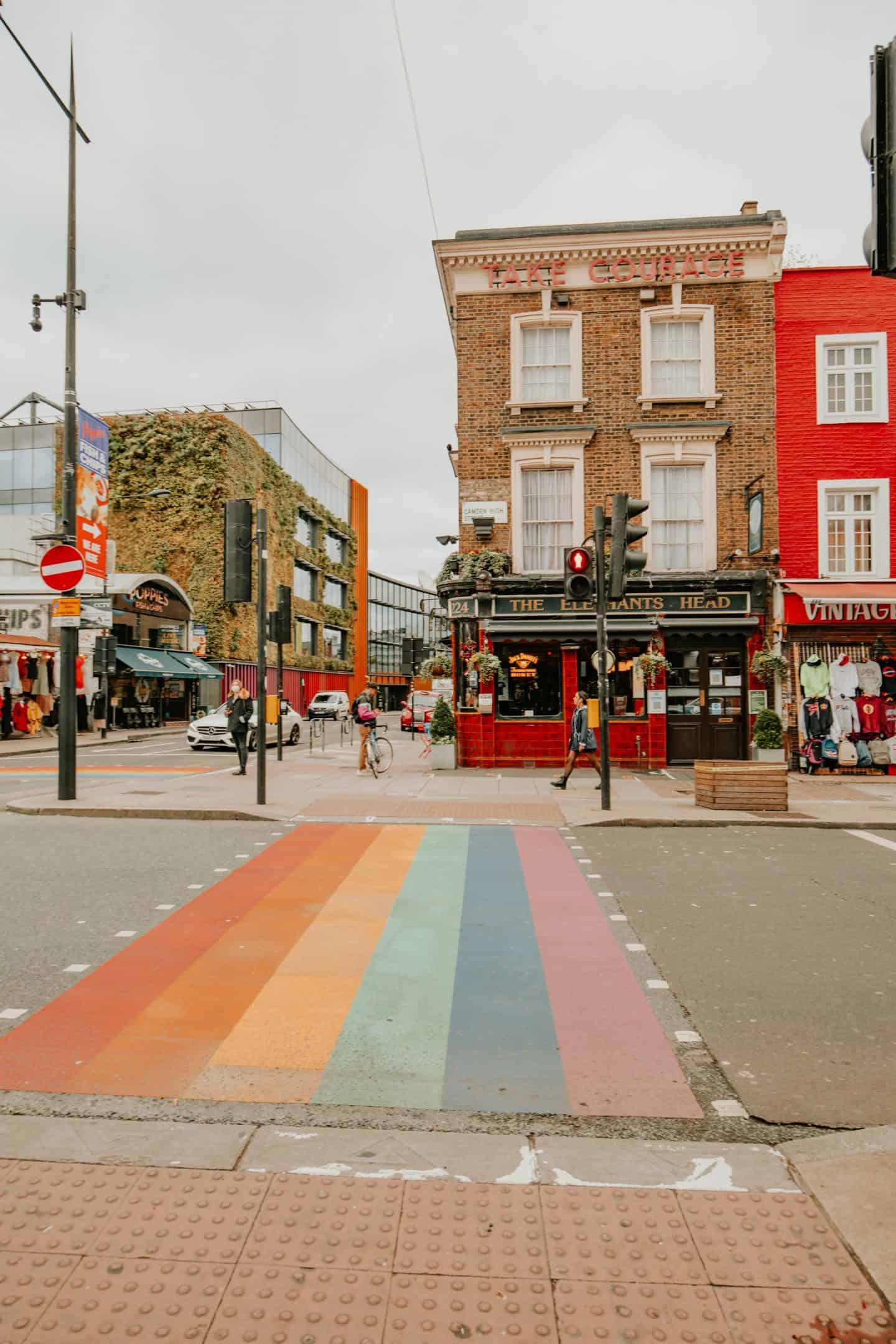 Camden, London Rainbow Road