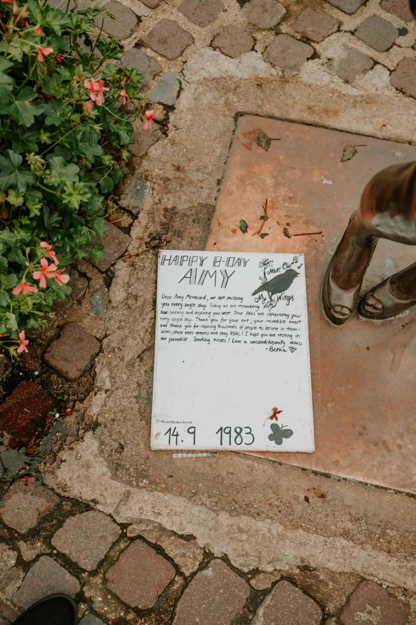 Amy Winehouse Memorial Plaque