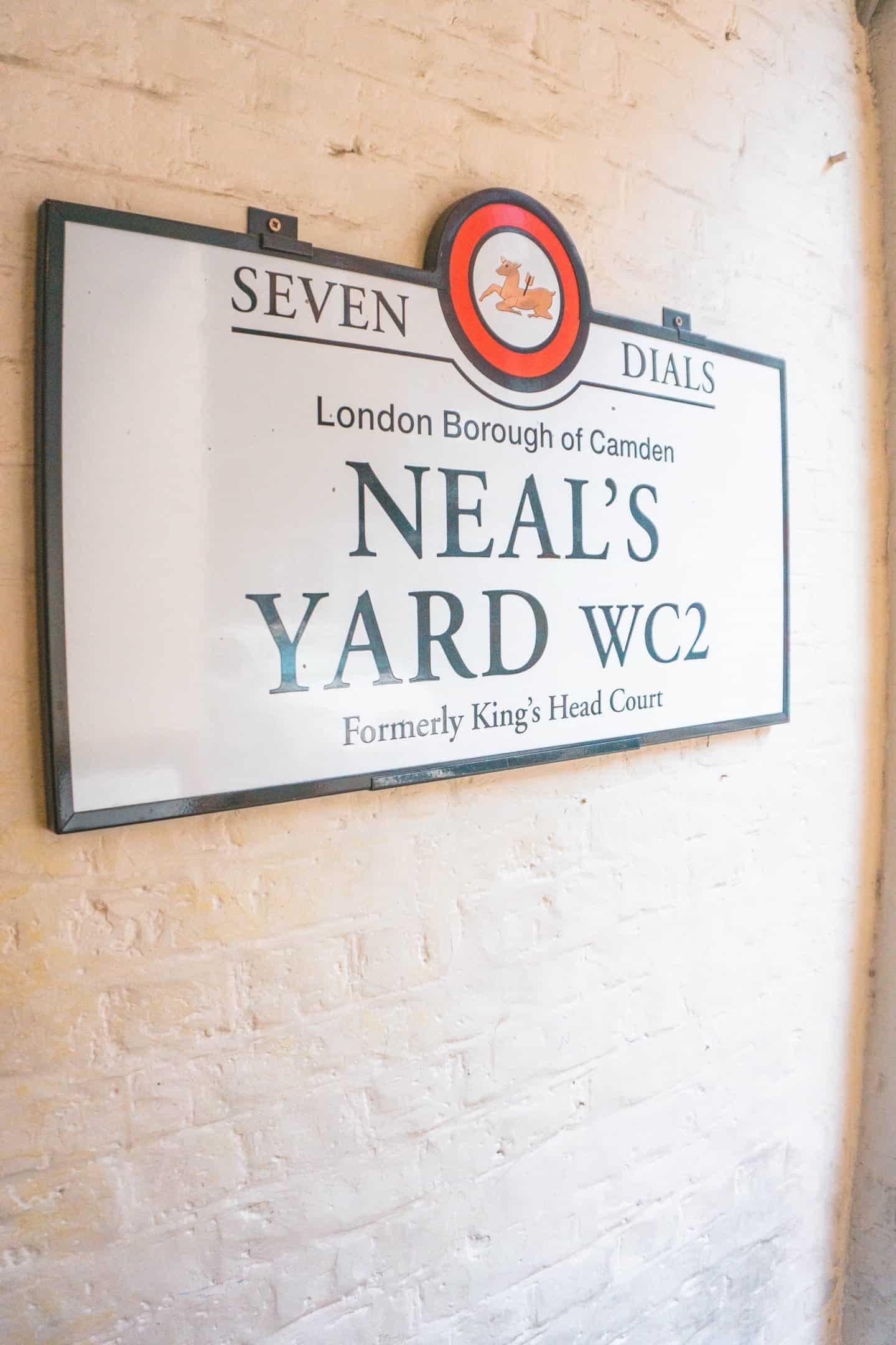 Neal's Yard Sign