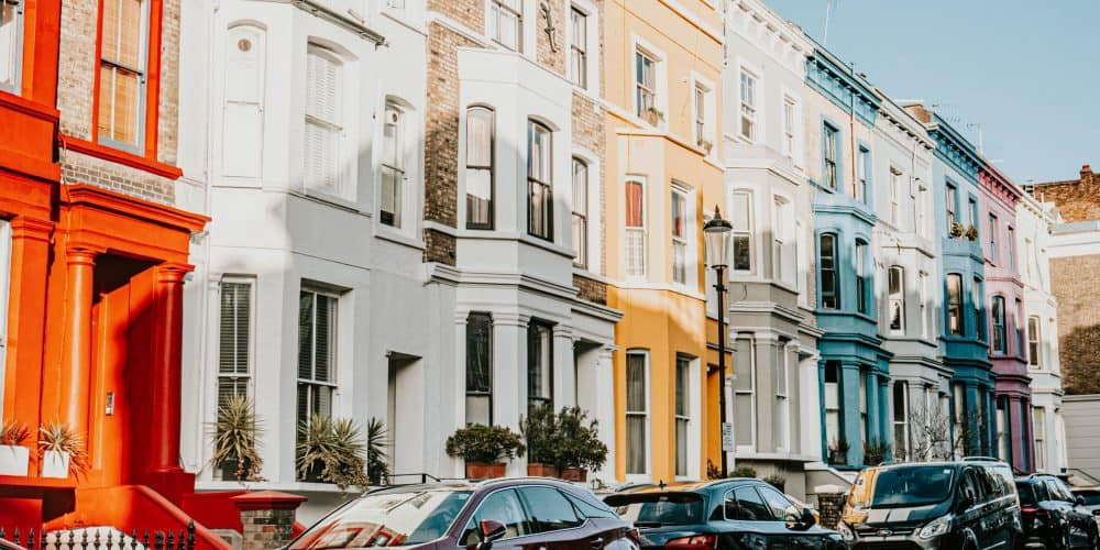 Notting Hill Houses Shot with Canon 5D IV Camera